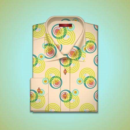 v�tements pli�s: image est une chemise d'homme dans un grand mod�le