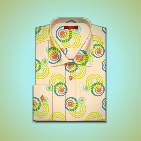image is a mans shirt into a large pattern Vector