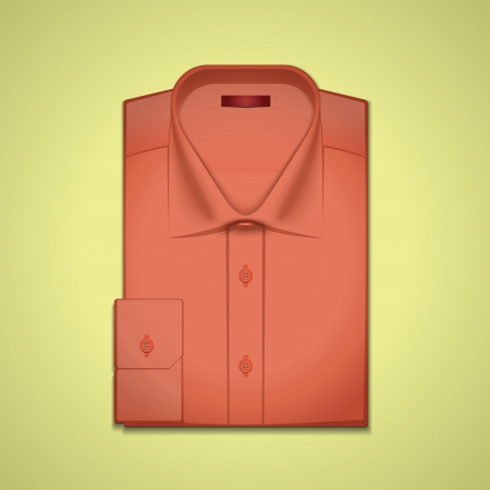 image is a red classic men's shirt Stock Vector - 13646333
