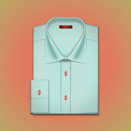 image is a mans shirt with polka dots