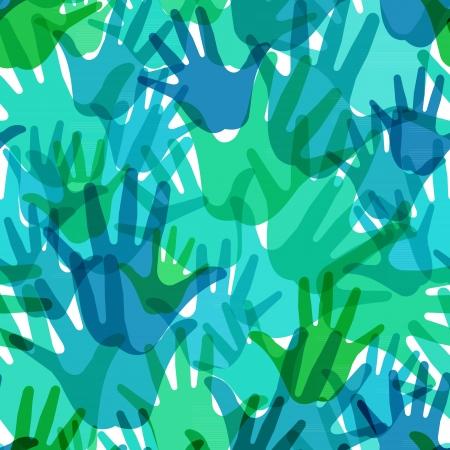 sin patrón de las palmas