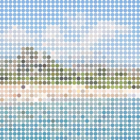 stylized landscape mosaic