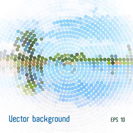 circulos concentricos: mosaico de paisajes estilizados Vectores