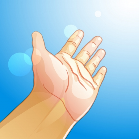 outstretched:  illustration of an outstretched hand