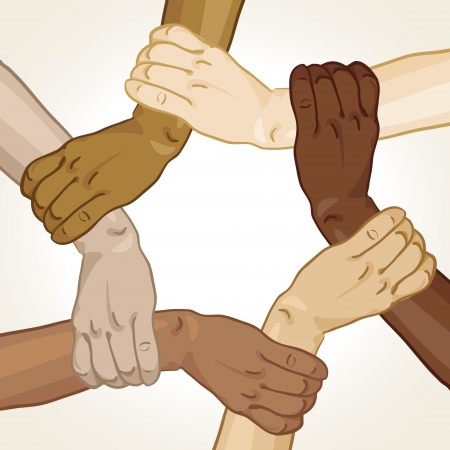 business resources: frame hands took in the circle Illustration
