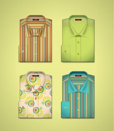 v�tements pli�s: images de chemises pour hommes s Illustration