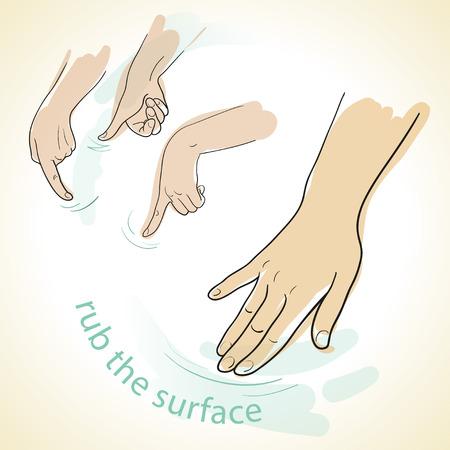 manner: set images of hands in the manner of a sketch