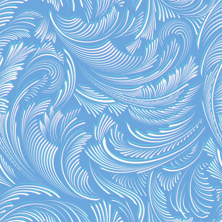 Blue seamless vector pattern background of frost