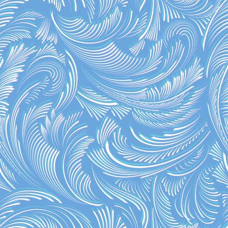 tranquility: Fondo vector patr�n incons�til azul de la helada Vectores