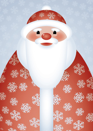 senior exercise: Vector naive image of Santa Claus in a snowy coat Illustration