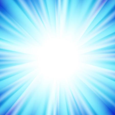 estrella azul: Vector de imagen de la estrella azul brillante con los rayos