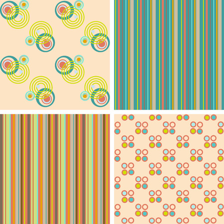 Vector set of seamless patterns for the fabric  Vector