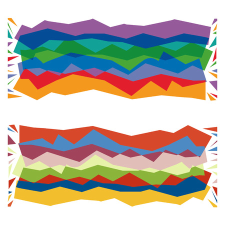 Vector stylized image of a multicolored striped carpet Vector