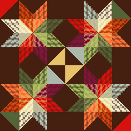 octagonal: Seamless vector pattern of the traditional octagonal stars