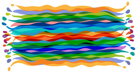 primitivism: Vector stylized image of a multicolored striped carpet Illustration