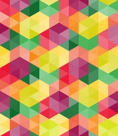 Seamless geometric pattern of multicolored hexagons