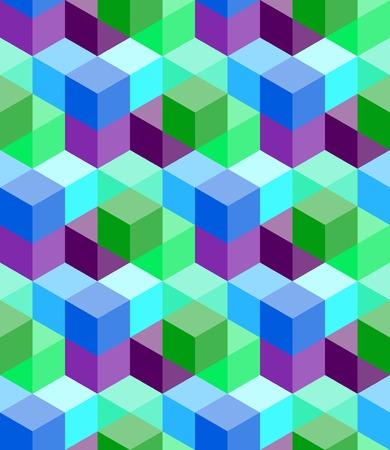volumetric: Modelo incons�til de los cubos de colores volum�tricas Vectores
