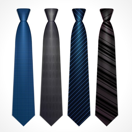 Vector set of strict classical ties dark colors