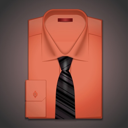 Vector classic red shirt and a black tie Illustration