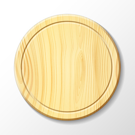 yellowish: Vector isolated image of a wooden cutting board
