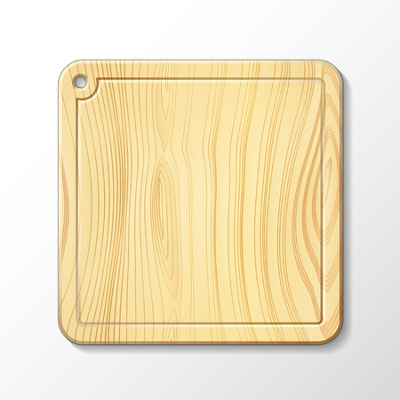 Vector isolated image of a wooden cutting board