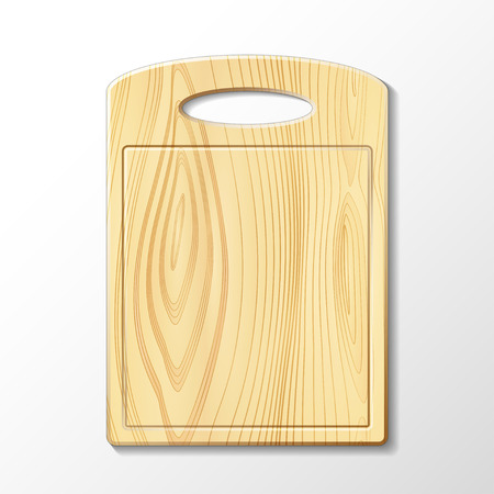 Vector isolated image of a wooden cutting board Vector