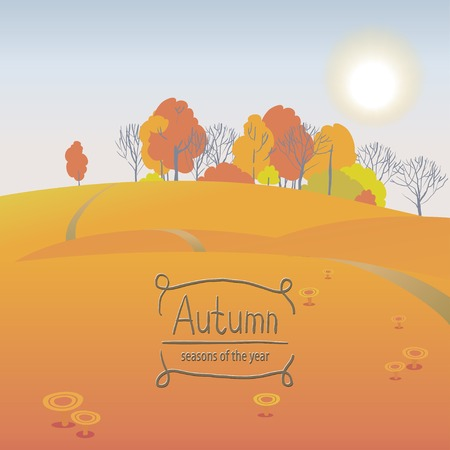 mellow: Vector illustration of the seasons, Mellow autumn