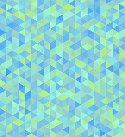 Vector mosaic seamless background in turquoise tones