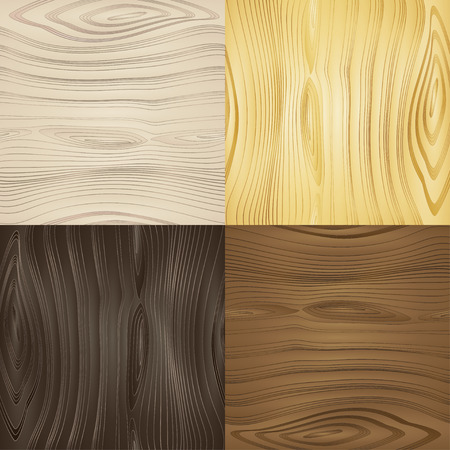 cherry hardwood: Set of vector seamless wood textures wood types