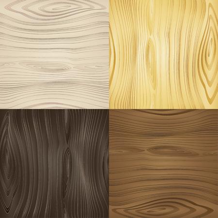 Set van vector naadloze houten texturen houtsoorten