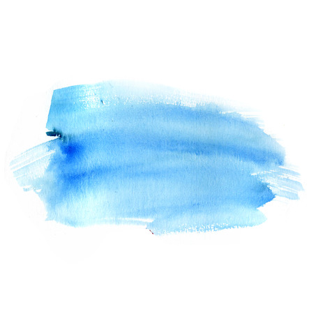 blue watercolor: Background of hand-made watercolor green spots Stock Photo