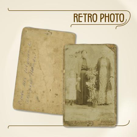 persona mayor: Conjunto de huellas de vectores de fotos antiguas de principios del siglo 20