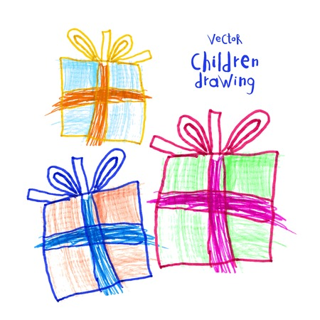 drawing of real children Gift Set
