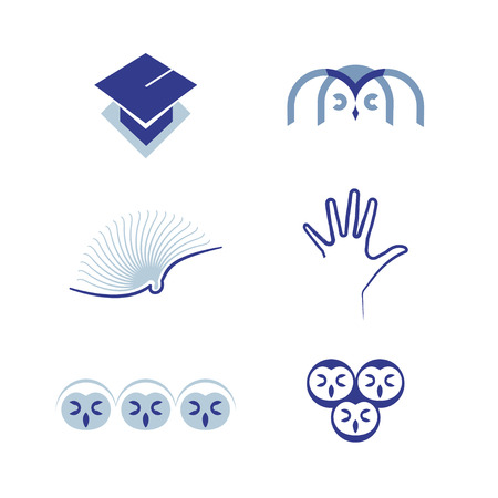 oncept: Vector set of graphic symbols education
