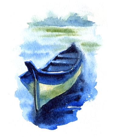 Watercolor Fishing Boats