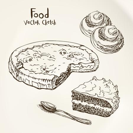 Vector sketch pastries