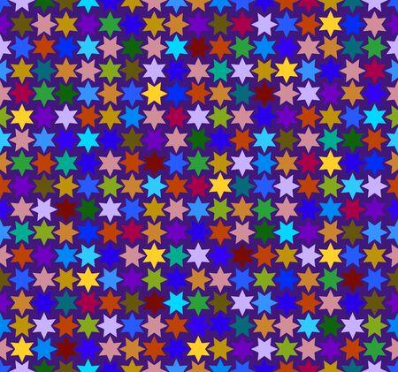 Hexagonal stars seamless vector pattern