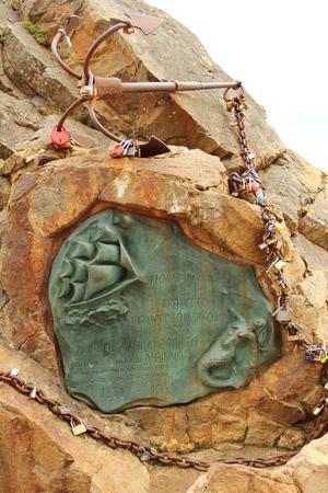 simbol: Anchor simbol of Lloret de Mar, tourist resort in Spain, Costa Brava