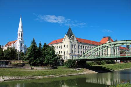 Landschap van de stad Zrenjanin in Servië