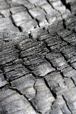 Achtergrond met de textuur van de verbrande hout