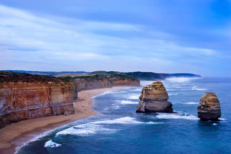 Resterende rotsen van de Twaalf Apostelen in Australië Stockfoto