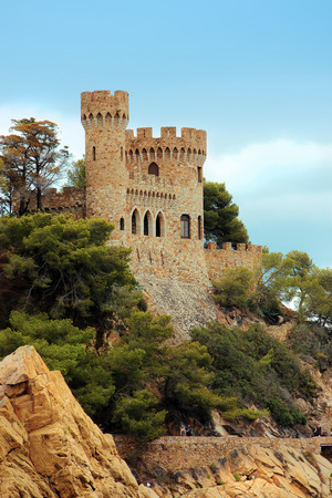 Fortress in Lloret de Mar, one of the most popular holiday resorts on the Costa Brava in Spain