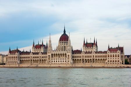 Het Hongaarse parlement gebouw ook wel bekend als het Parlement van Boedapest Stockfoto