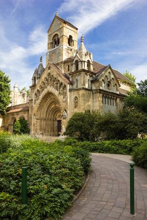 De Jak Chapel (Jaki Kápolna) van de Vajdahunyad kasteel in Boedapest, Hongarije