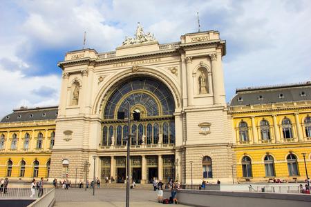 BUDAPEST, HONGARIJE, SEPTEMBER, 2016 - Station in Boedapest, hoofdstad Hongarije Redactioneel