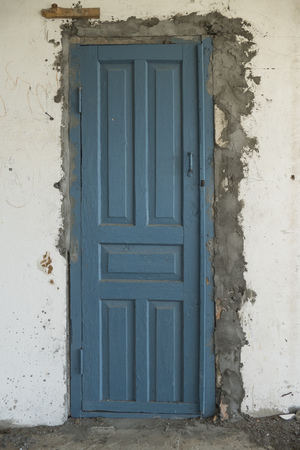 damaged: old damaged wood door