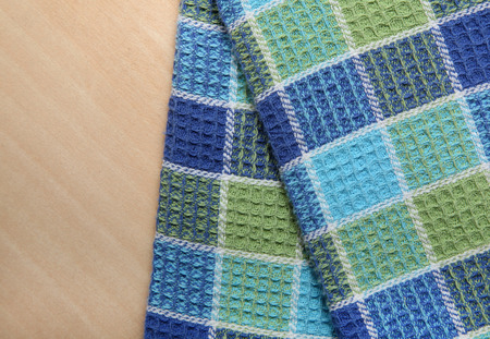 clothe: table clothe on wood