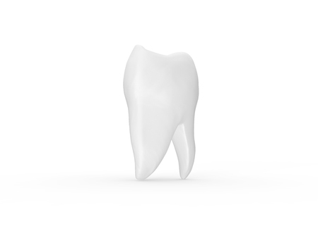 Tooth isolated on white Background 3D Rendering