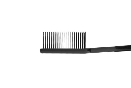 Tooth Brush Black isolated on White 3D Rendering