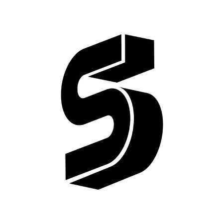 Simple 3 Dimension initial logo design Logo